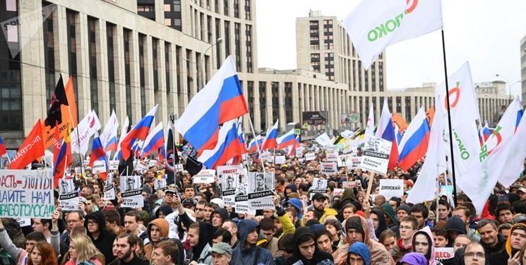 20 هزار نفر در مرکز مسکو تظاهرات کردند