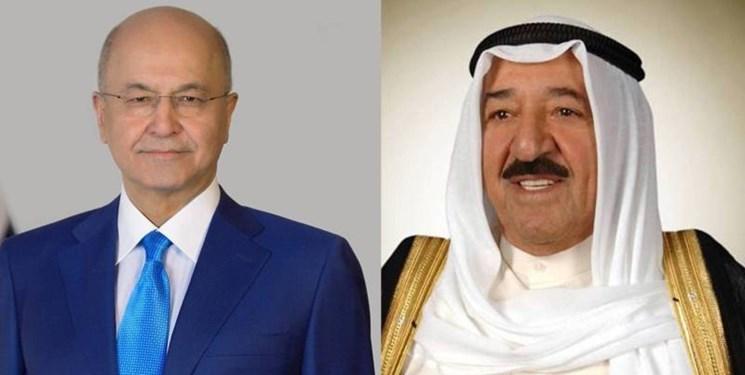 گفت وگوی تلفنی رئیس جمهور عراق با امیر کویت