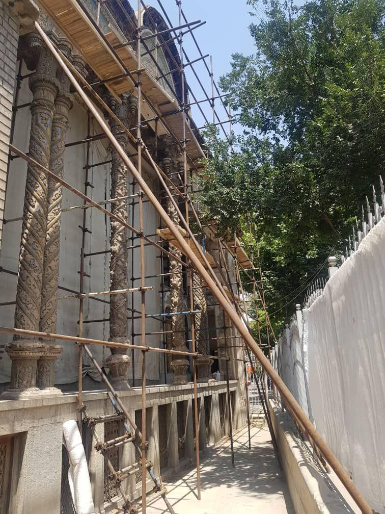 پیشرفت 50 درصدی عملیات مرمت وسامان دهی خانه تاریخی امین التجاراصفهان
