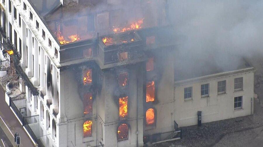 آتش سوزی هتل دوران ملکه ویکتوریا در انگلیس ، فیلم آتش سوزی هتل تاریخی کلارمونت را ببینید