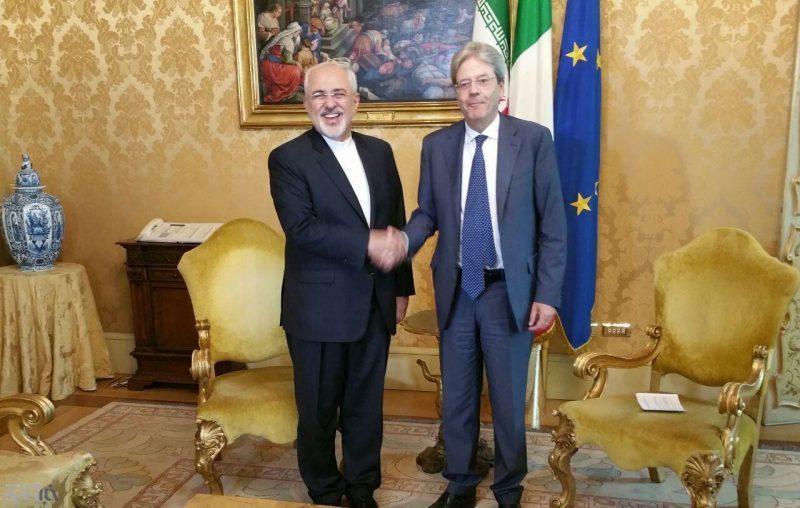 تقویت روابط ایران و ایتالیا در دیدار ظریف با همتای خود