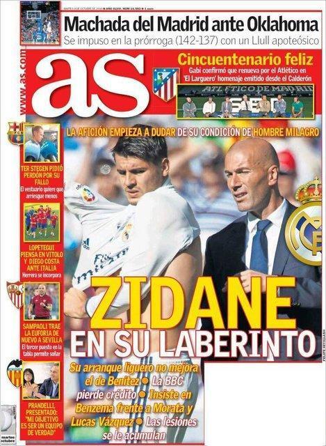 نگاهی به صفحه نخست روزنامه های ورزشی اسپانیا