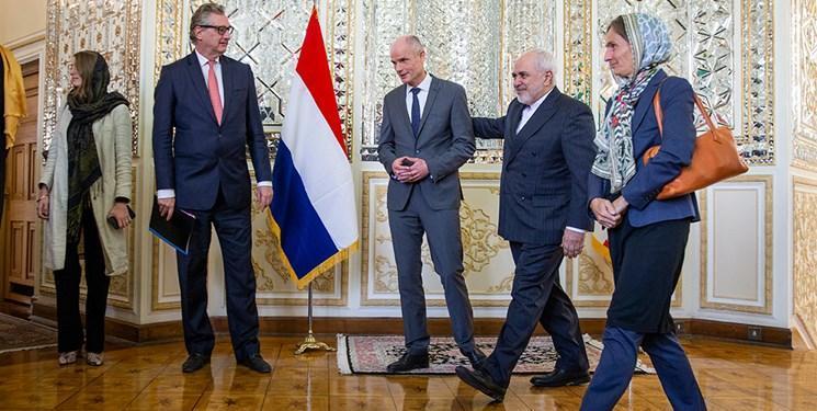 توییت ظریف از دیدارهایش با همتایان هلندی و اتریشی در تهران