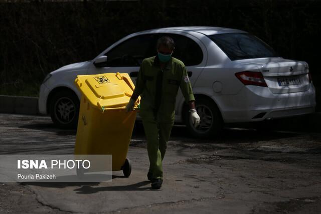 جداسازی زباله های بیماران کرونایی در اهواز