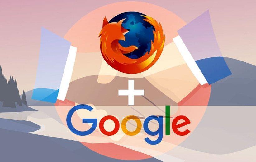 تمدید قرارداد بین موزیلا و گوگل برای موتور جستجوی پیش فرض فایرفاکس