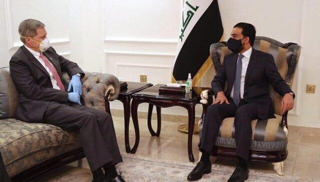 دیدار سفیر آمریکا با رئیس مجلس عراق