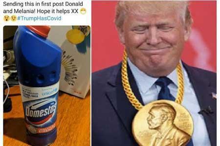 آمریکایی ها به ترامپ مبتلا به کرونا: مواد شوینده بنوش که معجزه می نماید!