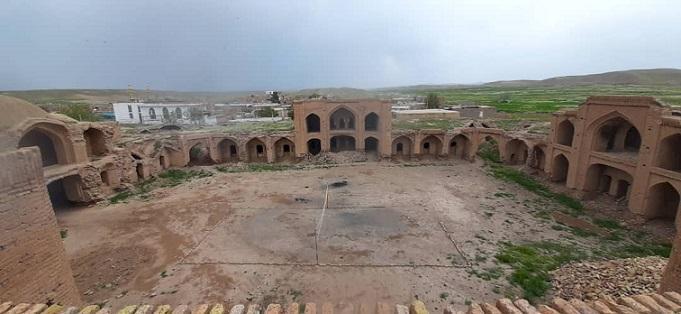 شروع عملیات مرمتی کاروانسرای شوریاب شهرستان فیروزه