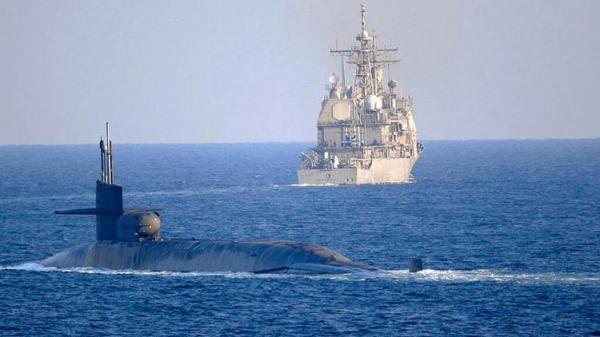 زیردریایی هسته ای آمریکا وارد خلیج فارس شد