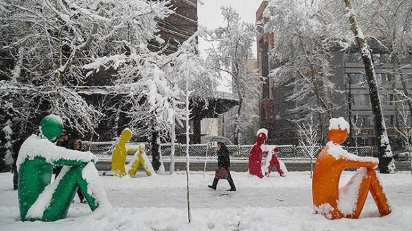 پیشرفت بارش برف و باران در کشور
