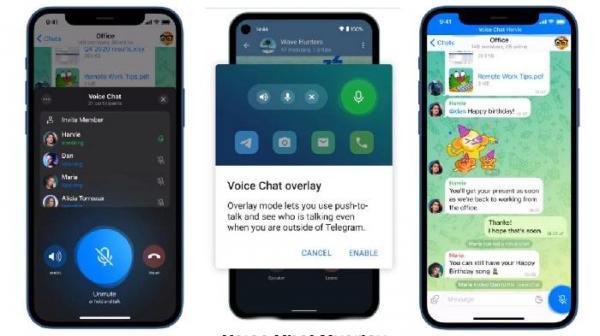 تلگرام به تازگی از قابلیتی جدید به نام چت های صوتی یا Voice Chats پرده برداری کرد