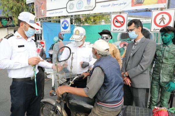 خبرنگاران روی خط شهر؛ پویش موتورسوار خوب گامی در کاهش تصادفات جنوب تهران